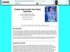 Create and Locate Your Own Business Lesson Plan