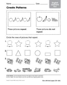 Create Patterns Worksheet