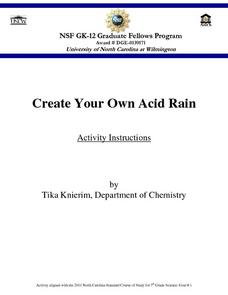 Create Your Own Acid Rain Lesson Plan