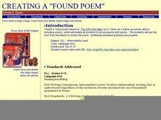 Creating a Found Poem Lesson Plan