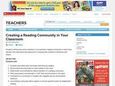 Creating a Reading Community in Your Classroom Lesson Plan