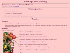 Creating a Salad Dressing Lesson Plan