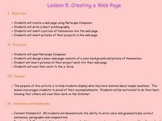Creating a Web Page Lesson Plan