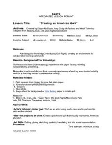 Creating an American Quilt Lesson Plan