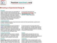Creating an Experimental Design Lesson Plan