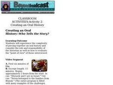 Creating an Oral History--Who Tells the Story? Lesson Plan