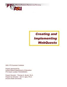 Creating And Implementing Web Quests Lesson Plan