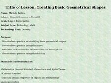 Creating Basic Geometrical Shapes Lesson Plan