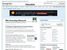 Creating Compassionate Communities Lesson Plan