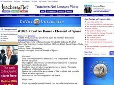 Creative Dance - Element of Space Lesson Plan