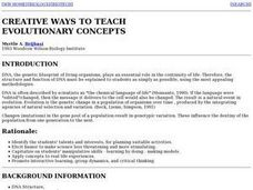 Creative Ways To Teach Evolutionary Concepts Lesson Plan