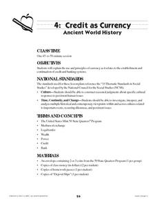 Credit as Currency: Ancient World History Lesson Plan
