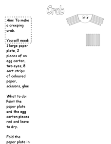 Creeping Crab Worksheet
