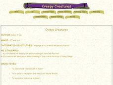 Creepy Creatures Lesson Plan
