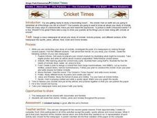 Cricket Times Lesson Plan