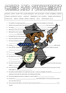 Crime and Punishment Worksheet