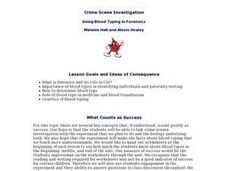 Crime Scene Investigation - Biology Teaching Thesis Lesson Plan