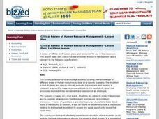 Critical Review of Human Resource Management Lesson Plan