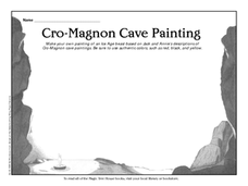 Cro-Magnon Cave Painting Worksheet