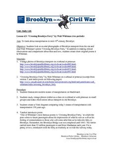 """Crossing Brooklyn Ferry"" Lesson Plan"