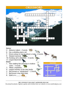 Crossword Lesson Plan
