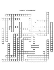 Crossword: Simple Machines Worksheet