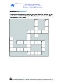 Crossword Worksheet