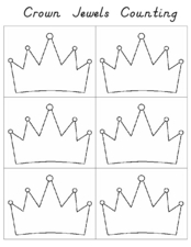Crown Jewels Counting Worksheet