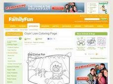 Cryin' Lion Coloring Page Lesson Plan