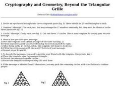 Cryptography and Geometry, Beyond the Triangular Grille Lesson Plan