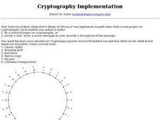 Cryptography Implementation Lesson Plan