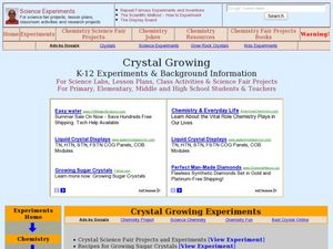 Crystal Growing Lesson Plan