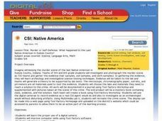 CSI: Native America Lesson Plan