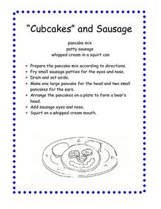 Cubcakes and Sausage Worksheet