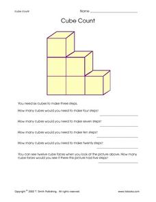 Cube Count Worksheet