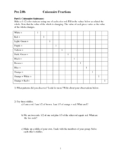 math worksheet : cuisenaire fractions 7th  12th grade worksheet  lesson pla  : Cuisenaire Rods Worksheets Fractions
