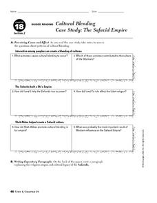 Worksheets Case Study Worksheet cultural blending case study the safavid empire 9th 10th grade empire