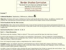 Cultural Borders: Similarities, Differences, Influences Lesson Plan