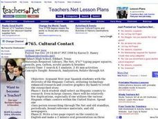 Cultural Contact Lesson Plan