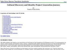 Cultural Discovery and Identity Project Generation Journey Lesson Plan