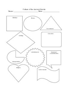 Culture of the Ancient Greeks Worksheet
