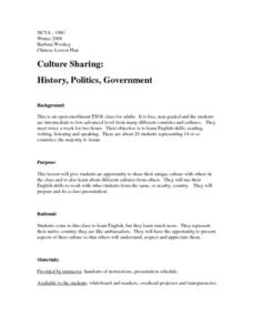 Culture Sharing:  History, Politics, Government Lesson Plan
