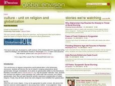 Culture - Unit on Religion and Globalization Lesson Plan
