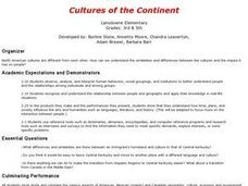 Cultures of the Continent Lesson Plan