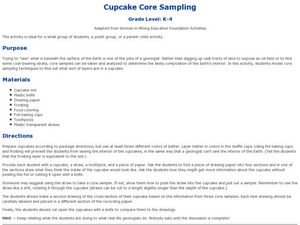 Cupcake Core Sampling Lesson Plan