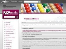 Cups and Cubes Lesson Plan