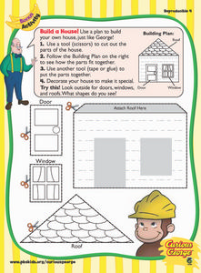 Curious George: Build a House Worksheet