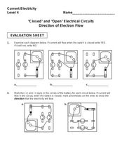Current Electricity: Electrical Circuit Activity Worksheet