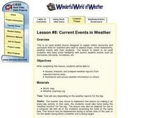 Current Events in Weather Lesson Plan