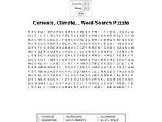 Currents And Climate Word Search Worksheet